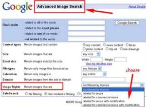 Google Search Creative Commons
